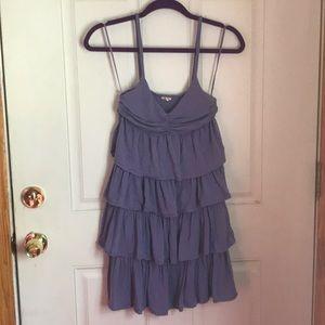 J. Crew Lavender Tiered Cotton Dress Sz XS